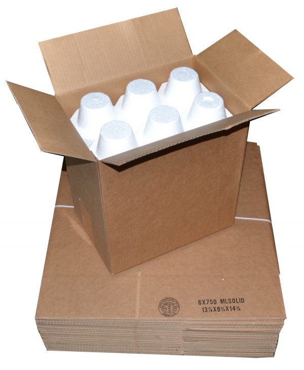 6 Bottle Shipping Boxesr 24 Boxes Miller Supply Inc