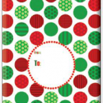 "Jolly Print Large Tyvek Envelope 12"" x 16"" 6/Pk"